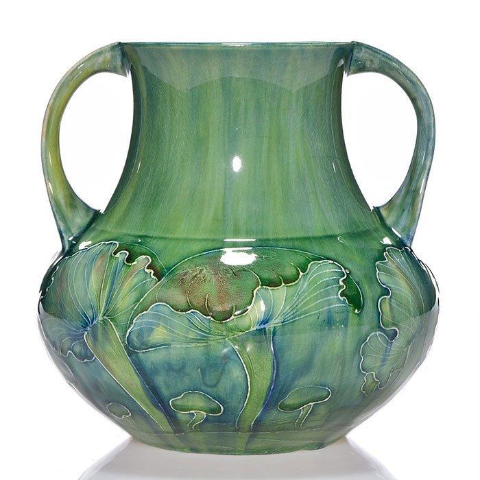 """Moorcroft  early 2 handled Claremont vase, 7 5/8"""" - 2"""