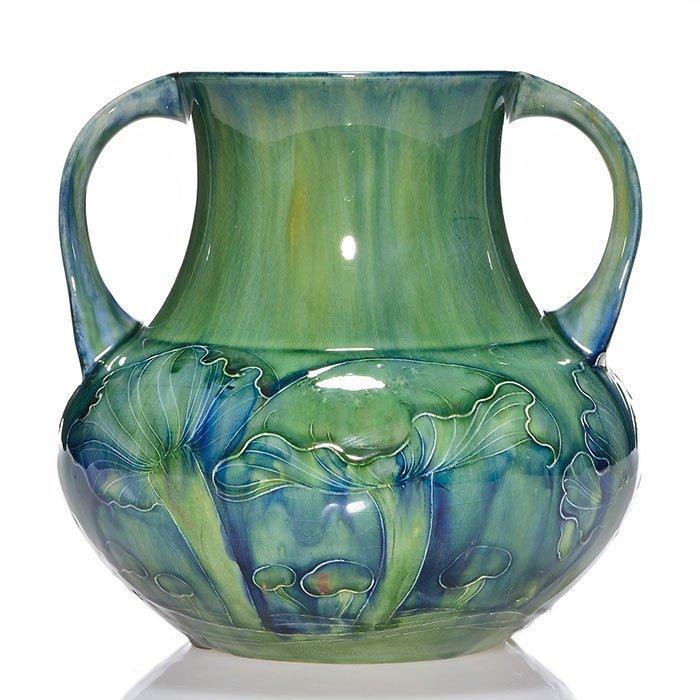 """Moorcroft early 2 handled Claremont vase, 7 1/2"""" - 2"""