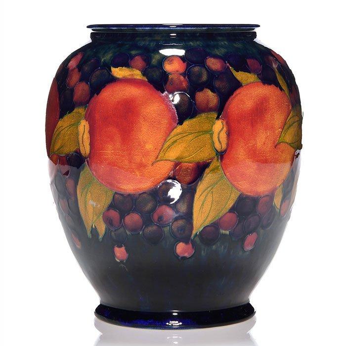 """Moorcroft Pomegranate vase, 7 7/8"""""""