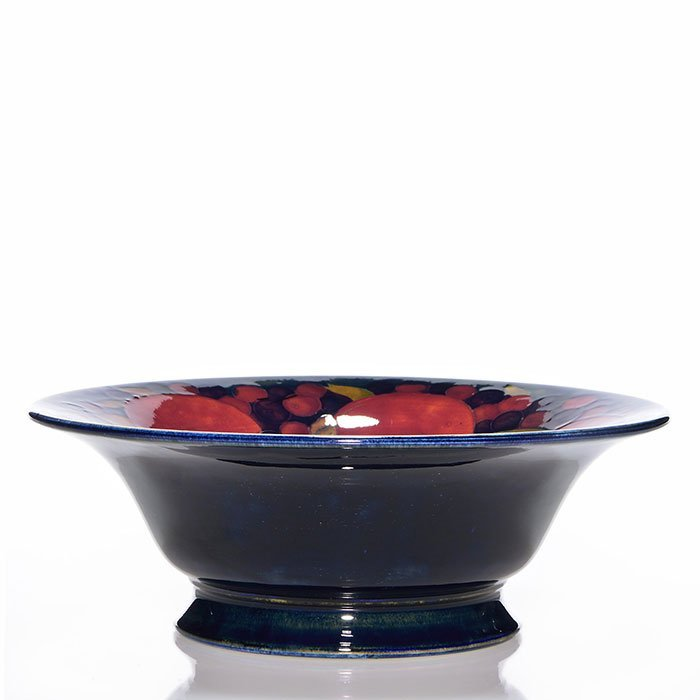 "Moorcroft bowl, Pomegranate inside, 3 1/4 x 9 1/8"" - 2"