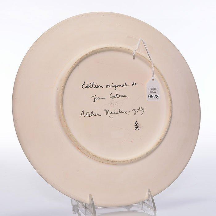 """Jean Cocteau plate, Faune aux Rubans, 6 of 25, 12"""" - 2"""