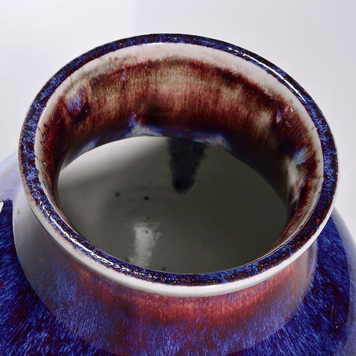 """2 Sevres Oxblood vases, reds, blues, 1892, 5"""", 9"""" - 3"""