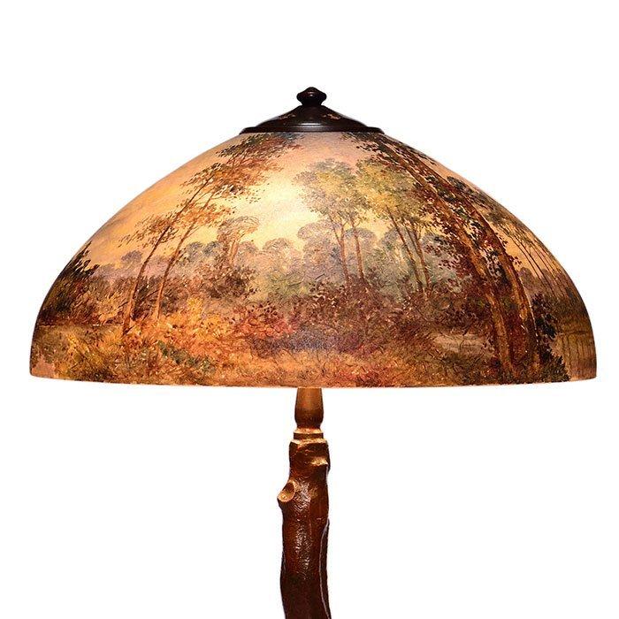 """Handel 18"""" scenic lamp, tree trunk base - 2"""