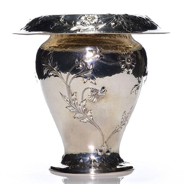 Lebolt(Chicago)hand hammered Sterling Special vase