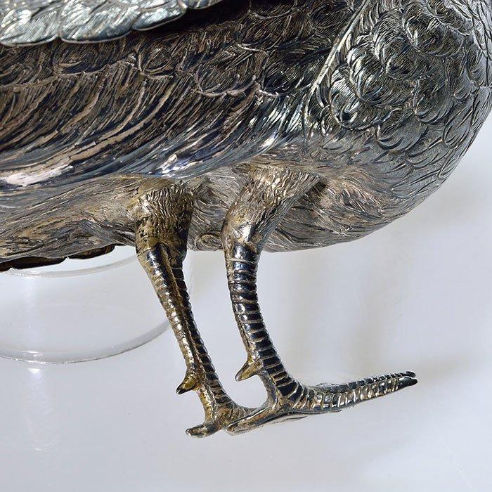 "Pr Sterling Peacock figurals,  8"" X 22"" - 4"