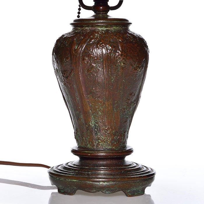 "Handel boudoir lamp, scenic shade, Palme, 6912, 14"" - 3"