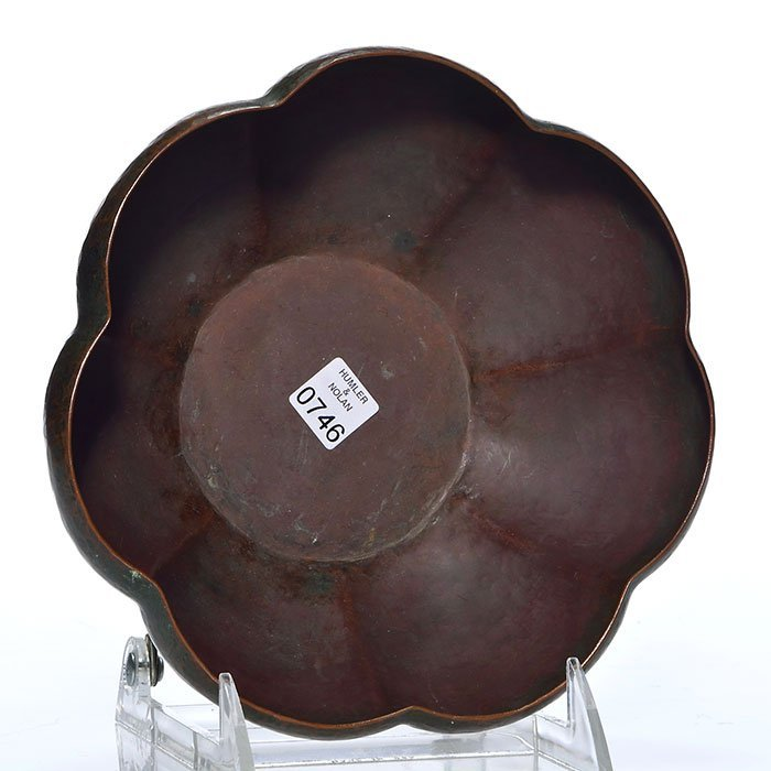 "Dirk Van Erp melon rib copper bowl, 2 1/2"", San Fran - 2"
