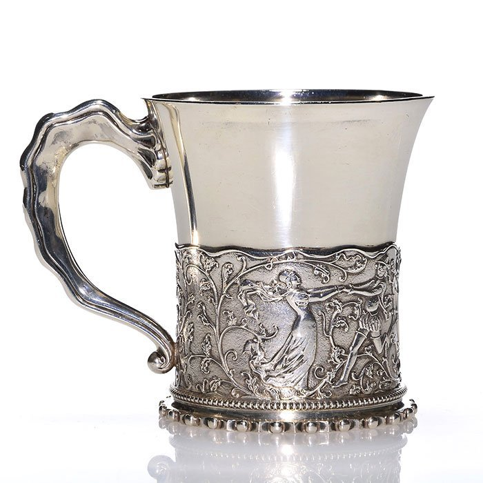Gorham sterling child's cup, Charlotte, 3 3/8""