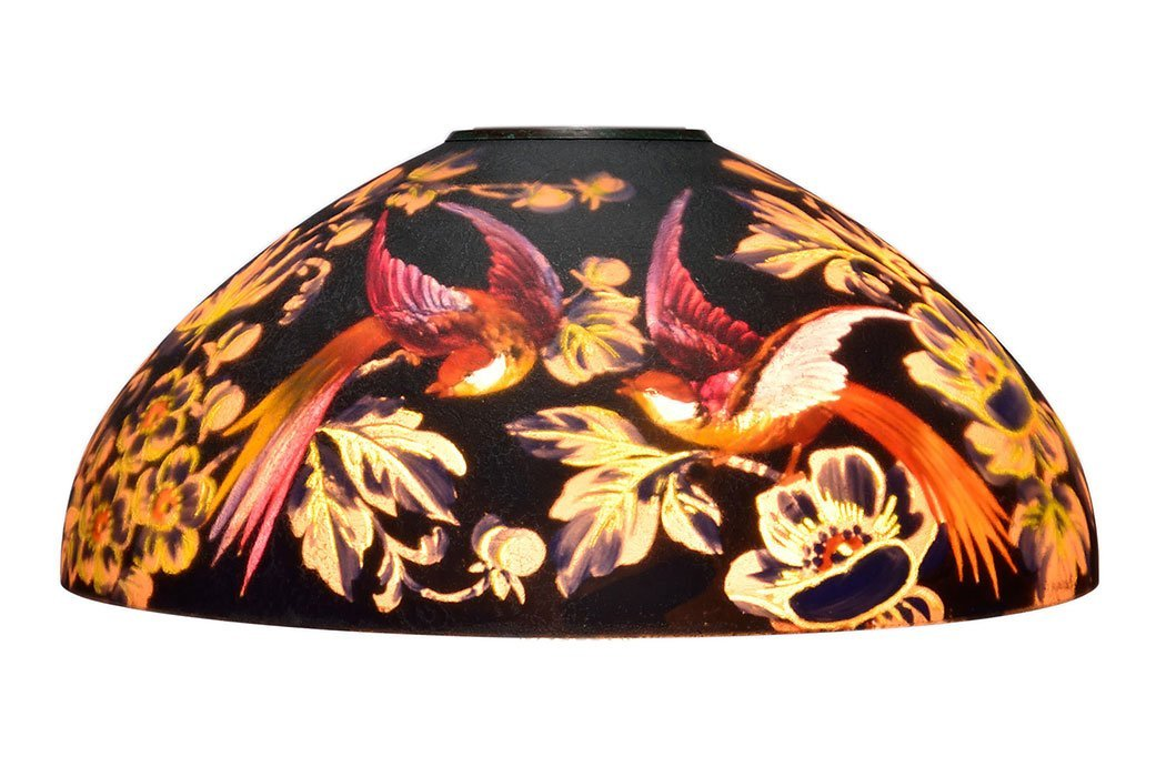 Handel lamp, Birds of Paradise, black, Bedigie, 7026 - 2