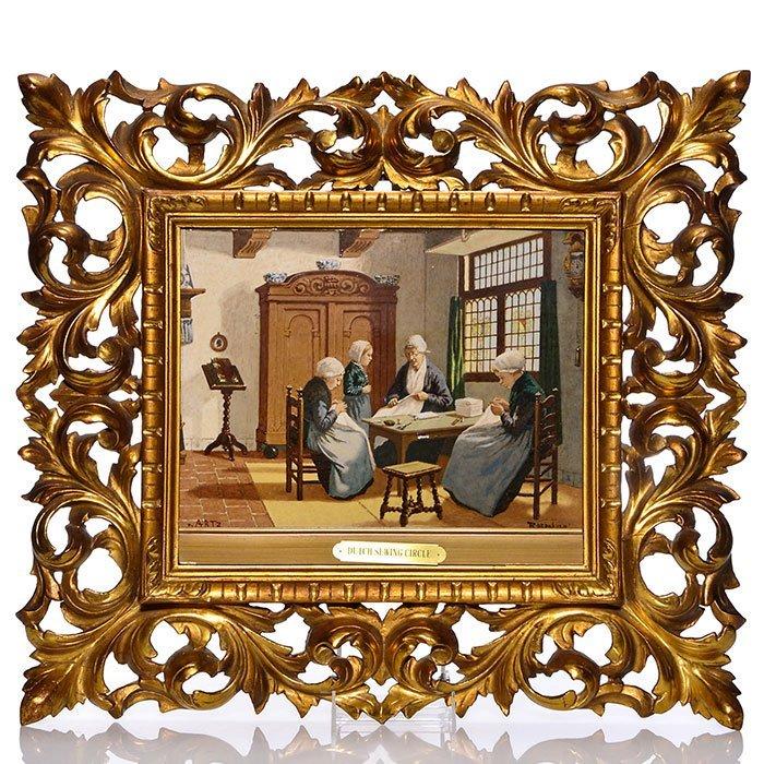 """Rozenburg porcelain tile, Dutch Sewing, 9 1/2""""X12 12"""""""
