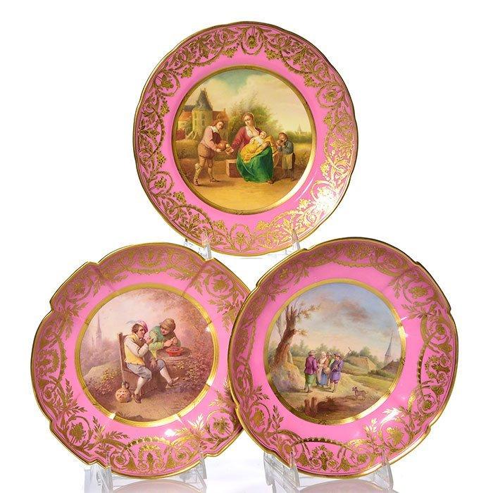 3 Sevres-style English porcelain, A.B. Daniel & Sons