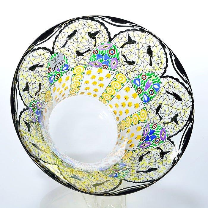 "Johann Oertel Bohemian enameled vase, birds,5 5/8"" - 2"