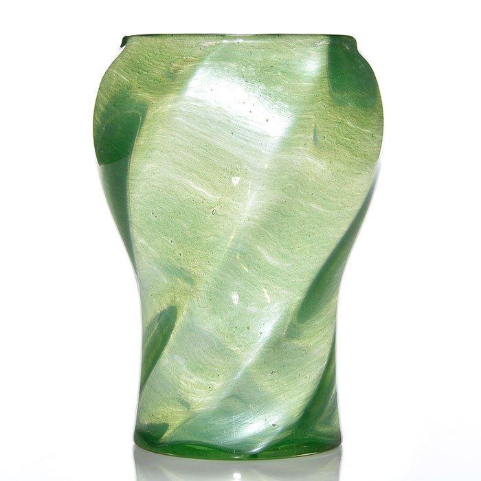 """Loetz Melusin vase, swirl, 7 1/2"""", PN ll-3888"""