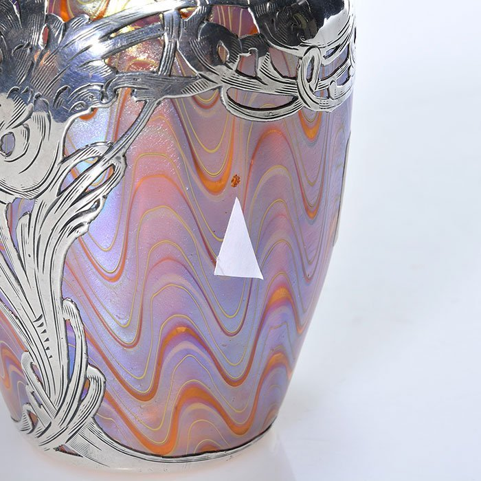 "Mini Loetz Phaenomen silver overlay vase, 3 7/8"" - 2"