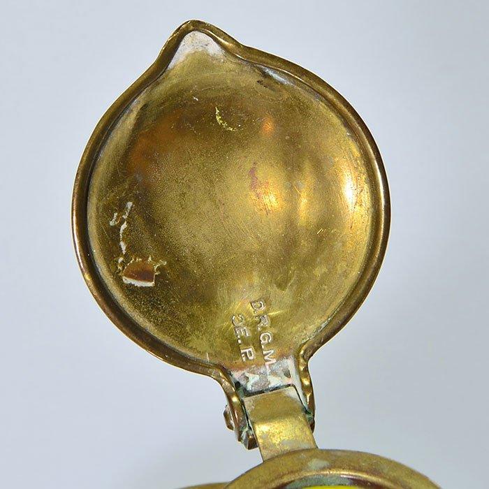 2 inkwells: Kralik/Loetz attrib, brass covers & trays - 3