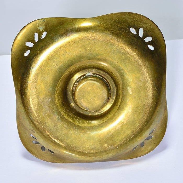 2 inkwells: Kralik/Loetz attrib, brass covers & trays - 4