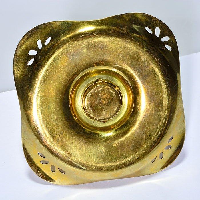 2 inkwells: Kralik/Loetz attrib, brass covers & trays - 7