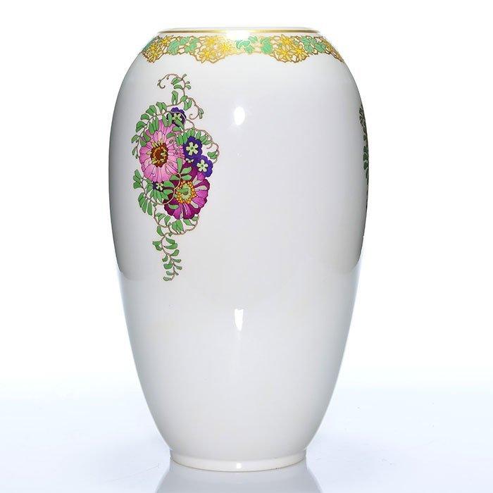 "KPM porcelain vase, ""Biplane"" circa 1915, 13 5/8"" - 2"