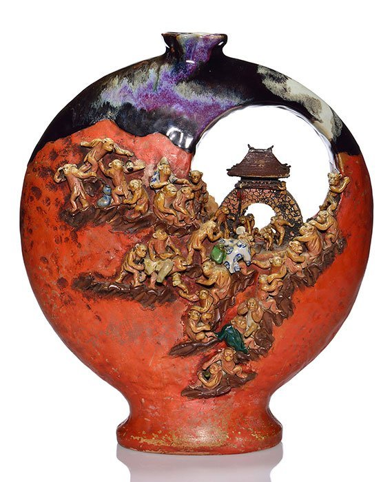 Sumida gawa vase dozens of monkeys 17 large sumida gawa vase dozens of monkeys 17 reviewsmspy
