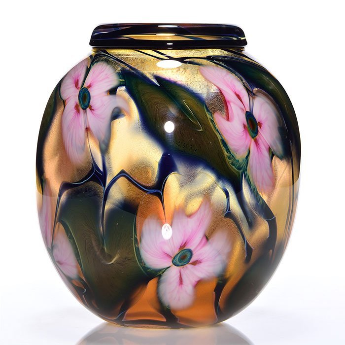 C. Lotton Multi Flora Sunset vase, 8 1/2""