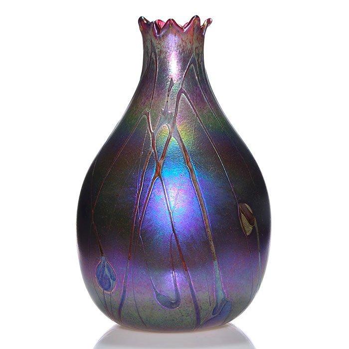 """Monumental Harris Loetz-like vase, 20"""""""