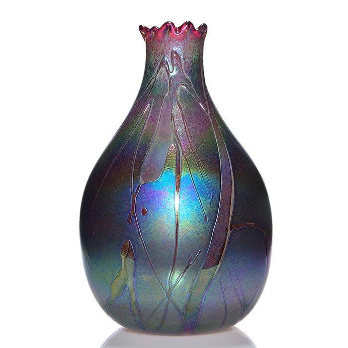 """Monumental Harris Loetz-like vase, 20"""" - 2"""