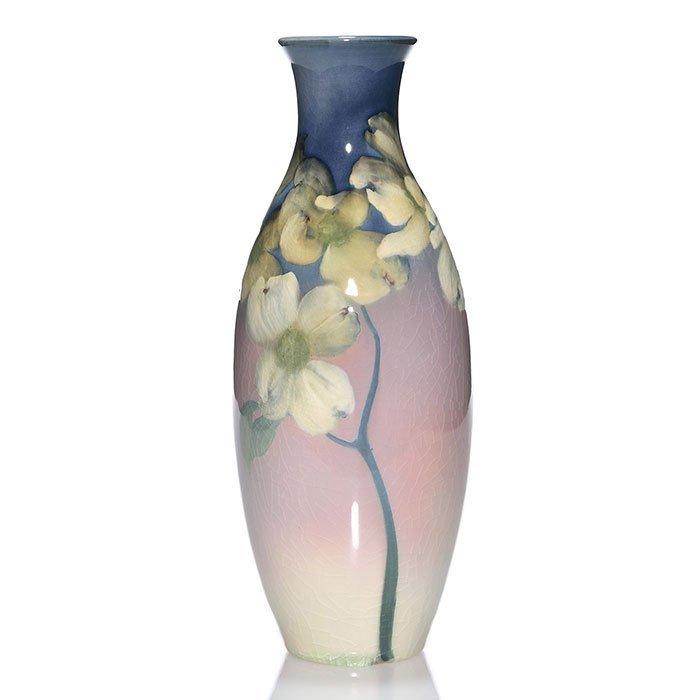 """Rookwood Iris vase, Toohey, 1900, 213 A, 11 5/8"""""""