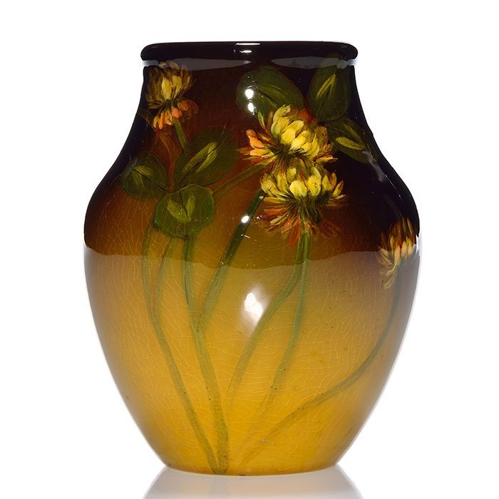 "Rookwood Standard 4 5/8"" vase, clover, Steinle, 1902"