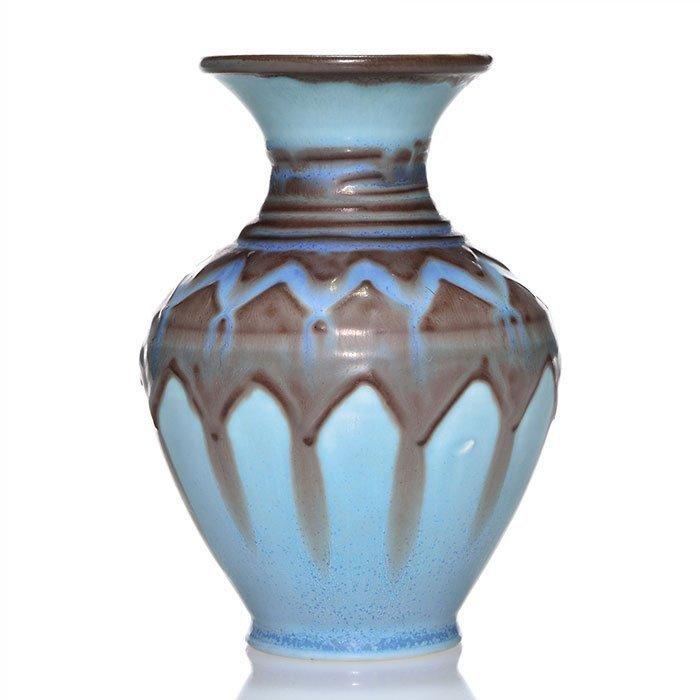 """Rookwood mat 5 1/2"""" vase, Barrett, 1931, 6148"""