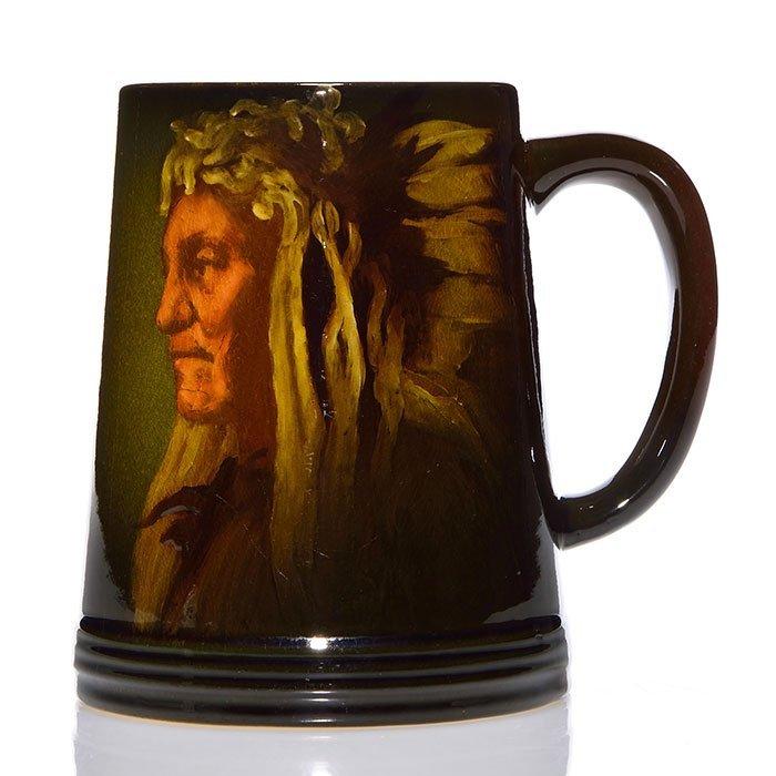 """Rookwood Standard mug,Indian,1896,Toohey, 4 5/8"""""""