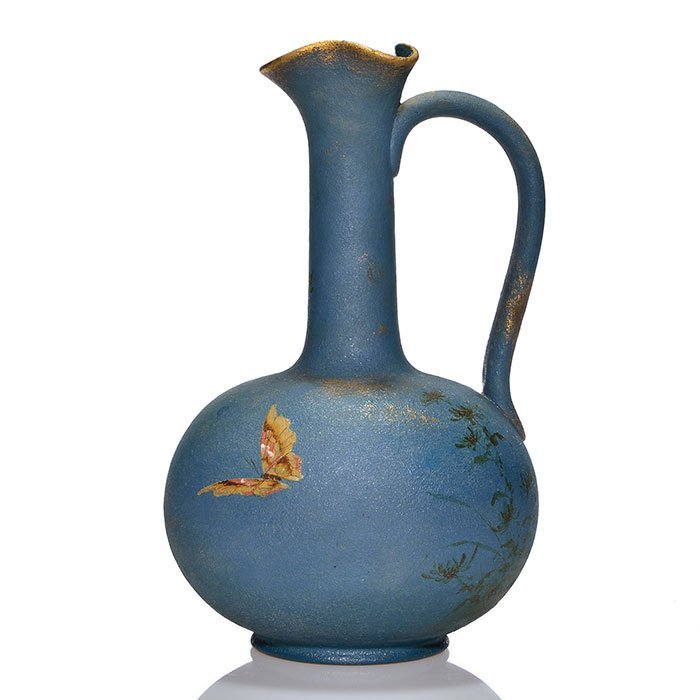 Rookwood Dull Finish ewer,butterfly,ARV? 11 1/4""