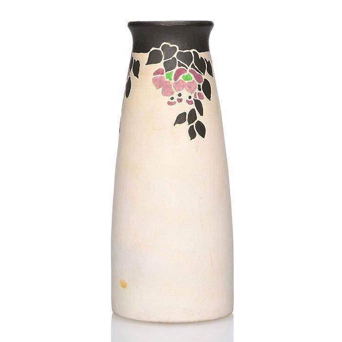 "Rookwood Vellum vase, unglazed, KVH, 1912, 6 1/4"""