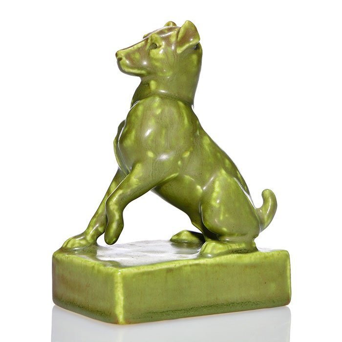 Rookwood Dog paperweight, 1928, 2777, 5""