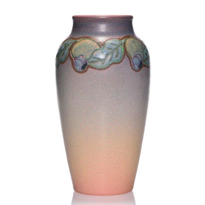 "Rookwood Vellum vase, Todd, 1919, 943 D, 8 1/2"""