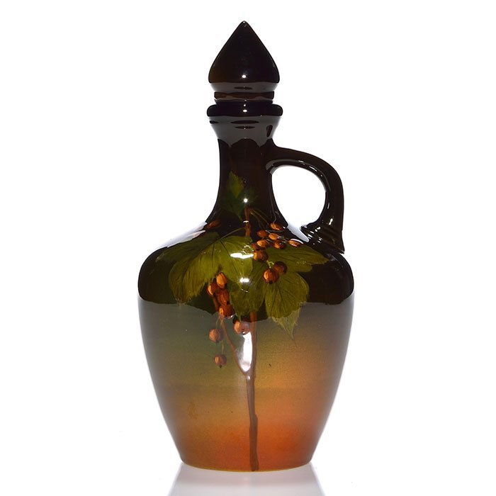 "Rookwood Standard whiskey jug, Asbury, 1900, 9 1/4"""