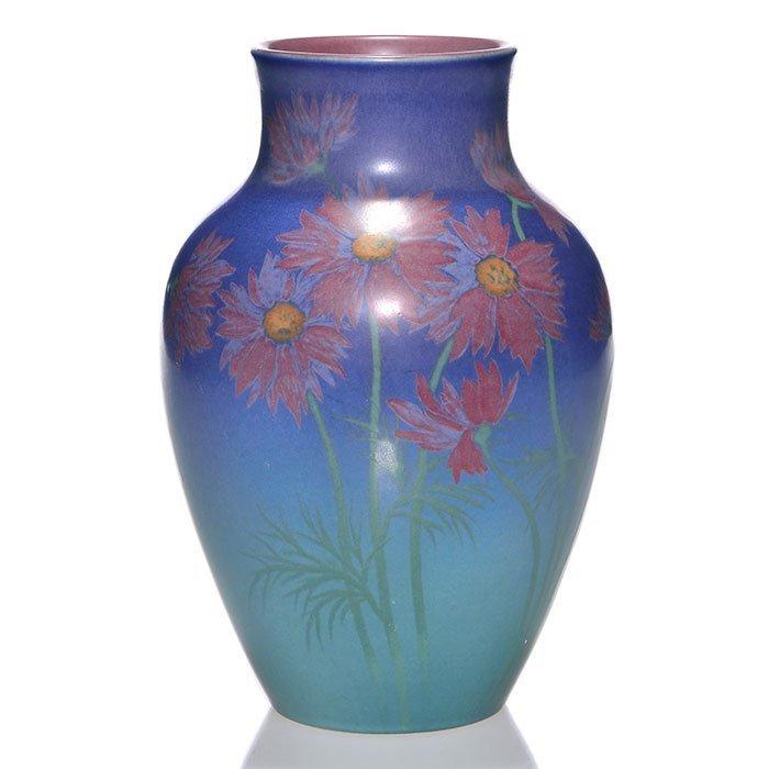 "Rookwood Vellum vase, Wilcox, 1926, 927 D, 9 1/8"""
