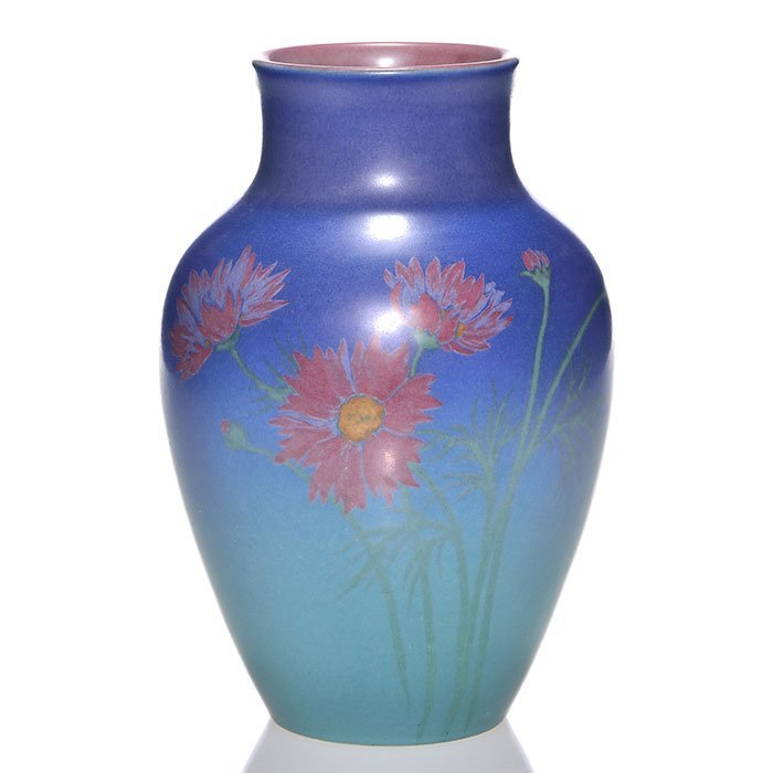 "Rookwood Vellum vase, Wilcox, 1926, 927 D, 9 1/8"" - 2"