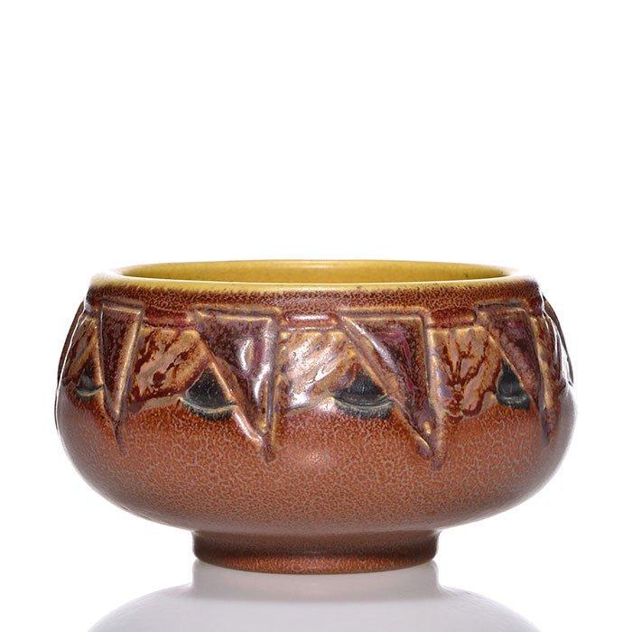 "Rookwood Ombroso bowl, Todd, geometric, 3 x 5"""
