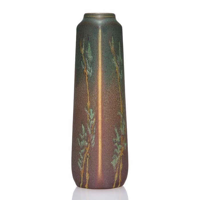 """Rookwood Painted Mat vase,Todd,1911, 1816, 7 1/2"""""""