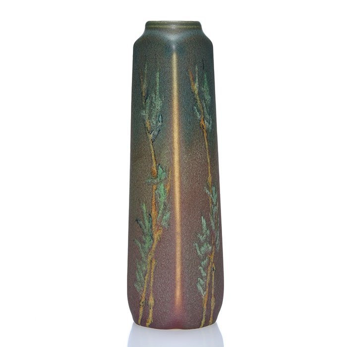 """Rookwood Painted Mat vase,Todd,1911, 1816, 7 1/2"""" - 2"""