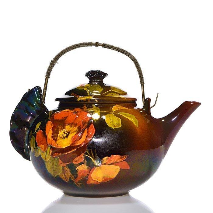 "Rookwood Standard lidded teapot,KCM, 1894, 5 1/2"""
