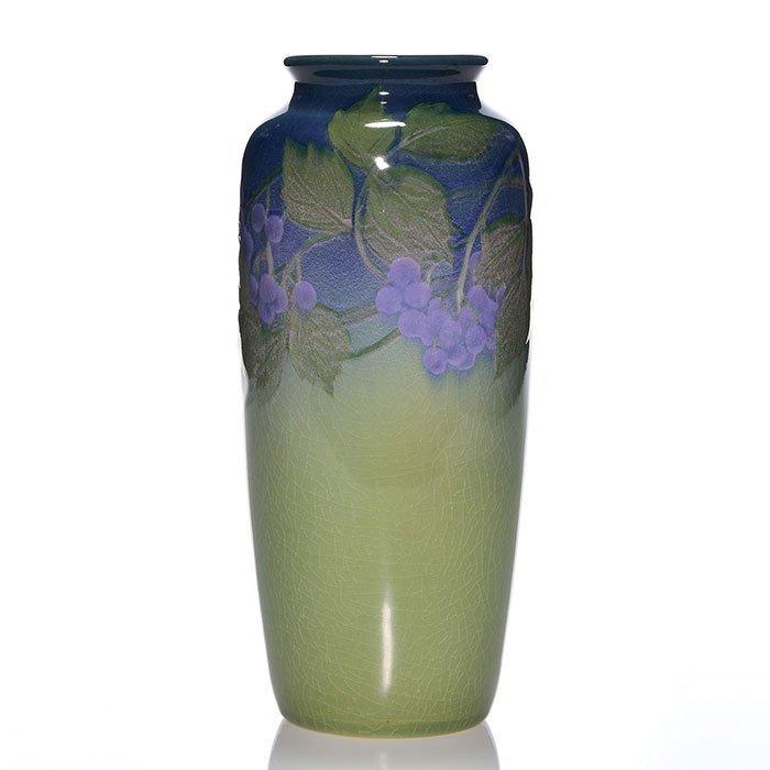 """Rookwood Iris vase, Reed, 1901, 904 D, 7 3/4"""""""