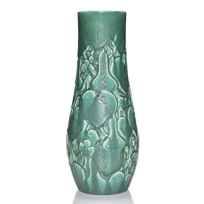 """Rookwood mat vase, floral, 1930, 2997, 13 1/2"""""""