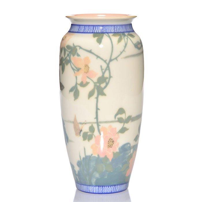 "Rookwood Porcelain vase, Conant, bird, 1921, 2544,8"" - 2"