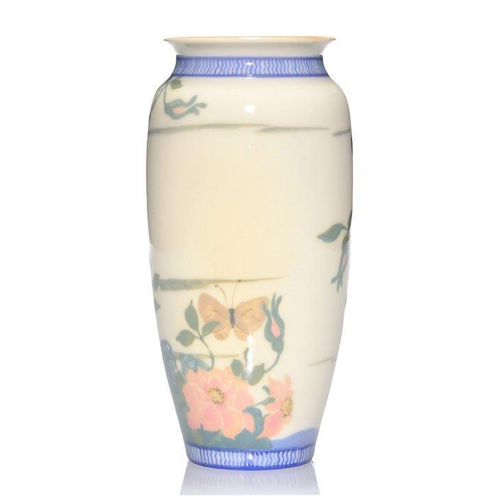 "Rookwood Porcelain vase, Conant, bird, 1921, 2544,8"" - 3"