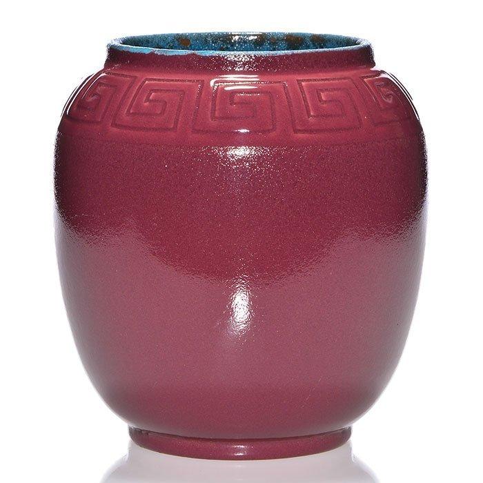 """Rookwood Porcelain vase,hand modeled, 1916,7 5/8"""""""