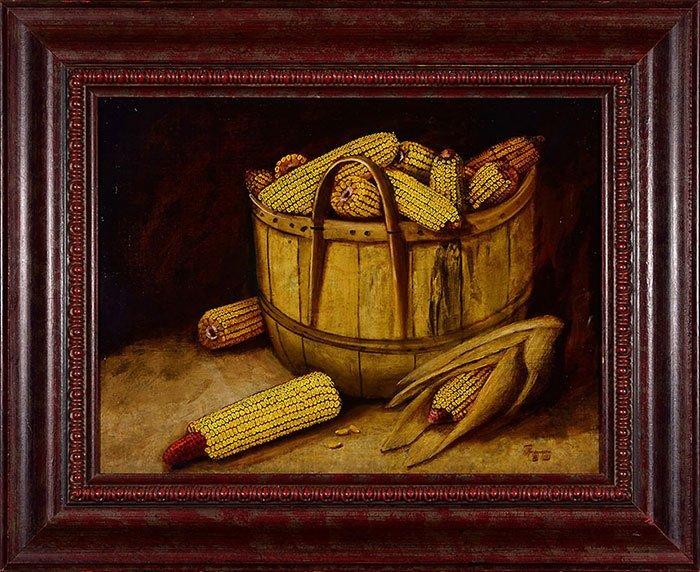 "Alfred Montgomery, O/C, Bushel of Corn,17 1/2 x 23 1/2"""
