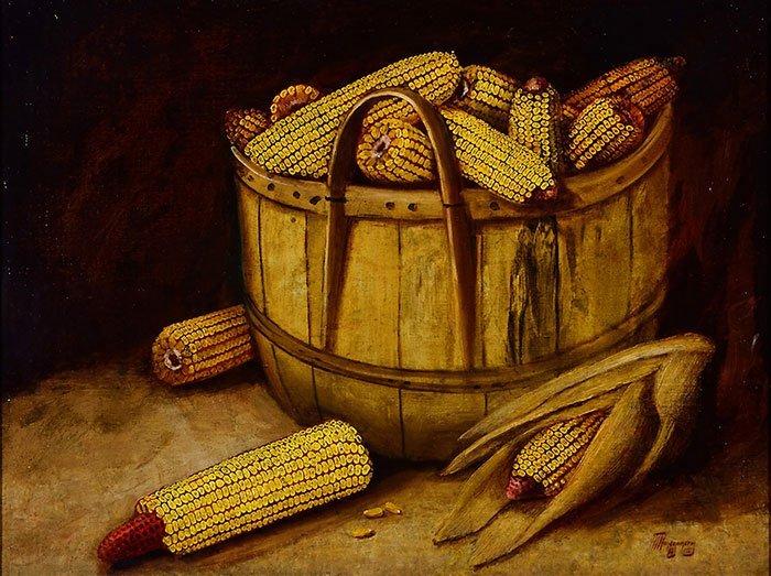 "Alfred Montgomery, O/C, Bushel of Corn,17 1/2 x 23 1/2"" - 2"