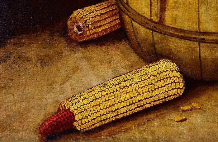 "Alfred Montgomery, O/C, Bushel of Corn,17 1/2 x 23 1/2"" - 4"
