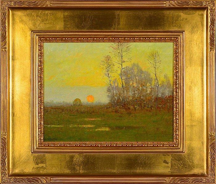 "Robertson Mygatt O/B, landscape, 9 3/4"" x 12 1/2"""